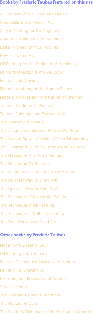 Books by Frederic Taubes featured on this site